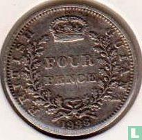 Brits Guiana 4 pence 1936