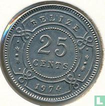 Belize 25 cents 1974