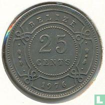 Belize 25 cents 1976