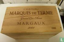 Kist 6fl, Chateau Marquis de Terme, Margaux, France, 2001