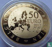 """Belgium 50 euro 2012 (PROOF) """"Paul Delvaux"""""""