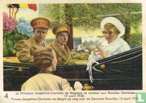 Prinses Josephine-Charlotte van België op weg naar de Gentsche Floraliën. 13 April 1938