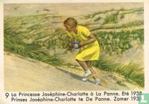 Prinses Joséphine-Charlotte te De Panne. Zomer 1938