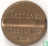 Gettone Telefonico 6711 (geen muntteken)