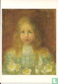 Portret van een meisje met bloemen