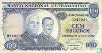mozambique 100 escudos 1972
