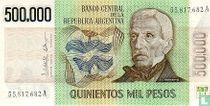 Argentinië 500.000 Pesos 1980
