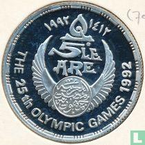 """Ägypten 5 Pound 1992 (PP - AH1412) """"Summer Olympics in Barcelona - Football"""""""