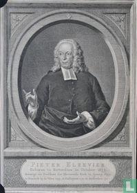 PIETER ELZEVIER Geboren te Rotterdam in October 1673. Bevestigd als Predikant der Hervormde Kerk te Sprang 1699. te Nieuwekerk op de Veluw 1709. te Enkhuyzen 1710. te Amsterdam 1721.