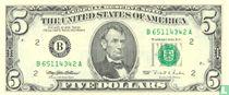 Verenigde Staten 5 dollars 1995 B