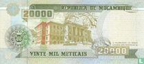 Mozambique meticais 1999 20000