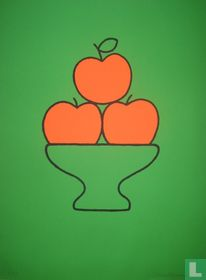 Fruitschaal met drie appels