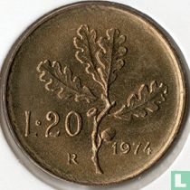 Italië 20 lire 1974