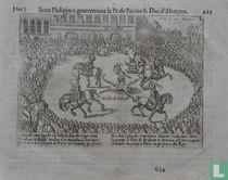Salzedo ouertuijcht en bekent den Hertoge van