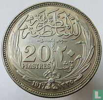 Ägypten 20 Piaster 1917 (AH1335)