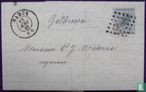 Namur 264 & Namêche & Postkantoor onbepaald - 1868 - Gelbressée