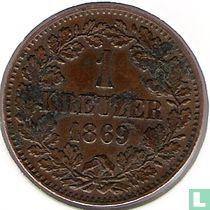 Baden 1 kreuzer 1869