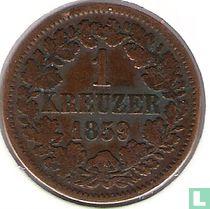 Baden 1 kreuzer 1859