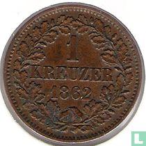 Baden 1 kreuzer 1862
