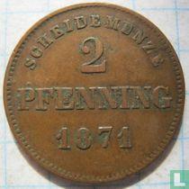 Beieren 2 pfenning 1871