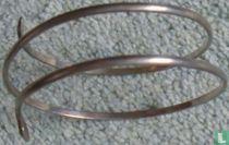 Zilveren slangen armband ( Surinaams zilver)