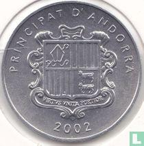"""Andorra 1 cèntim 2002 """"Agnus Dei"""""""
