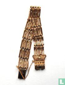 Gouden Armband Jugendstil Gebr.Roozendaal Hoorn