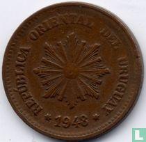 Uruguay 2 centésimos 1948