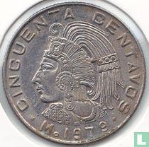 Mexico 50 centavos 1979 (ronde 2e 9 in jaartal)