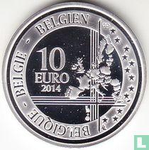 "Belgium 10 euro 2014 (PROOF) ""Centenary of the beginning of the First World War"""