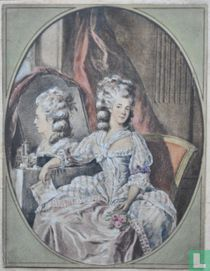 Portret van de actrice Catharine Rosalie Gérard, ook wel Mademoiselle Duthé genoemd