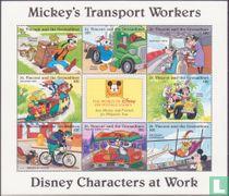 Disney Characters at work