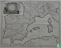 Carte générale de la monarchie des Gots tant dans les Gaules qu'en Espagne