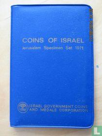 Israël jaarset 1971 (JE5731 - blauw mapje met insteek met zwarte en blauwe letters)