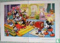 The end of the party: Mickey Mouse takes a phothograph