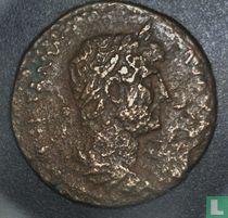 Romeinse Rijk, AE Quadrans, 117-138 AD, Hadrianus, Rome, 125-128 AD