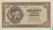 Servië 20 Dinara