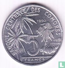 "Comoren 5 francs 1992 ""FAO - World Fisheries Conference"""