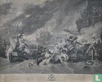 The battle at La Hogue