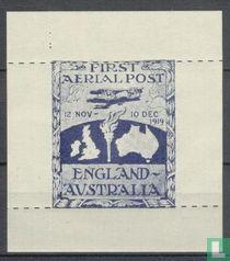 First Aerial Post England-Australia - Herdruk !!