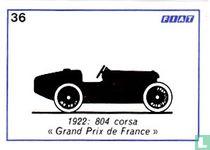 """Fiat 804 corsa """"Grand Prix de France"""" - 1922"""