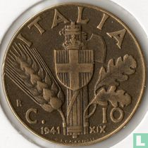 Italien 10 centesimi 1941