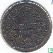 Baden 1 kreuzer 1861