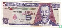 Guatemala 5 Quetzales 1991