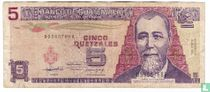 Guatemala 5 Quetzales 1992