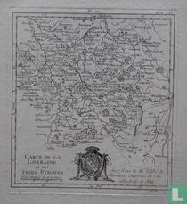 Carte de la Lorraine et des Trois Evechés
