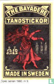 The Bayadere tandstickor