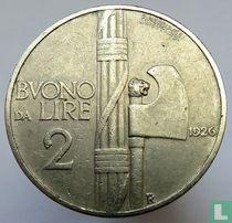 Italien 2 Lire 1926