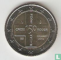 """Belgium 2 euro 2014 """"150th anniversary of the Red Cross"""""""