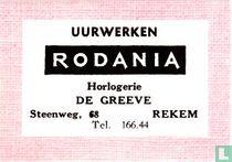Uurwerken Rodania - De Greeve